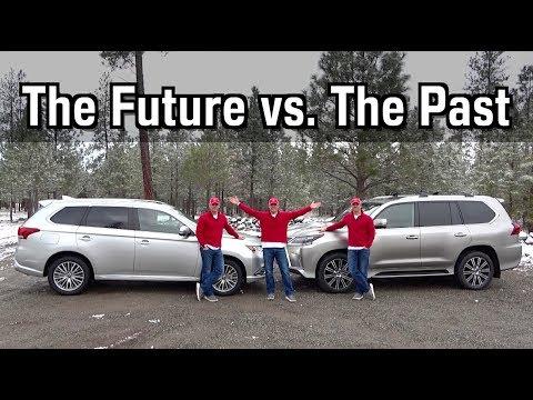 2020 Mitsubishi Outlander PHEV meets the 2020 Lexus LX 570