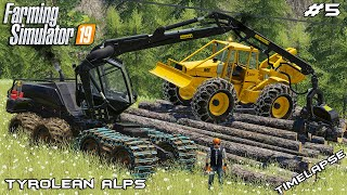 Cutting down forest w/ Chata | Forestry Tyrolean Alps | Farming Simulator 19 | Episode 5