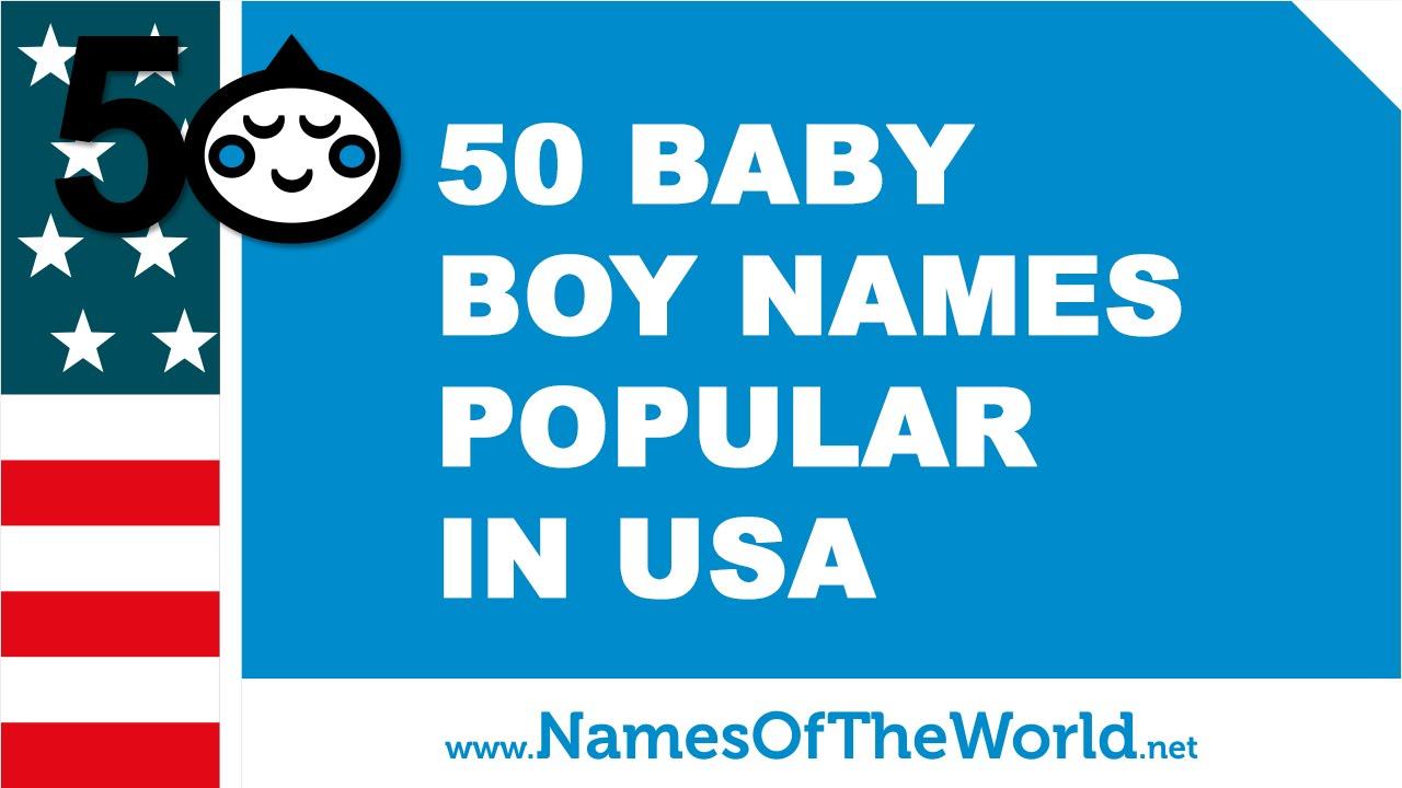Popular American Male Names Yen Com Gh