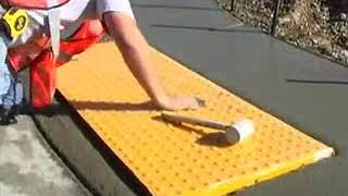 cast in place ada tiles detectable