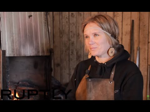 Men's job?: Siberia's only woman blacksmith [SUBTITLES]