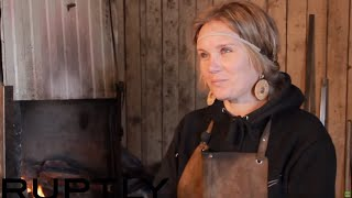Men's job?: Siberia's only woman blacksmith [SUBTITLES]