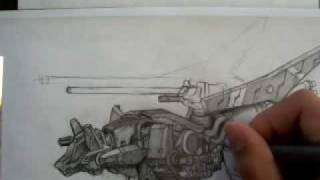 ZOIDS Command Wolf AC Drawing (time lapse)