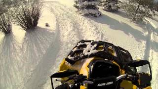 Can Am Outlander 500 xt In The Snow 2