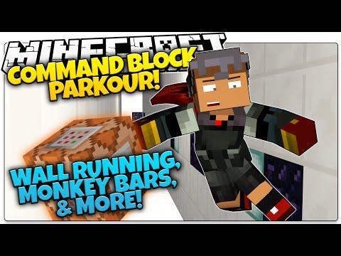 Minecraft | COMMAND BLOCK PARKOUR | Monkey Bars, Wall Running, & More! (Minecraft Parkour Map)