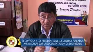 90 03 DISTRITO DE HUAURA Saneamiento fisico legal de los centros poblados