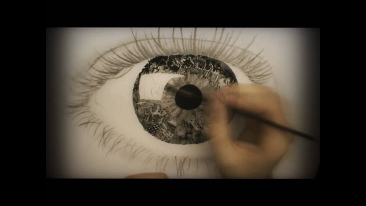 """Surrealistic Speed Drawing: """"Vision"""" - YouTube"""
