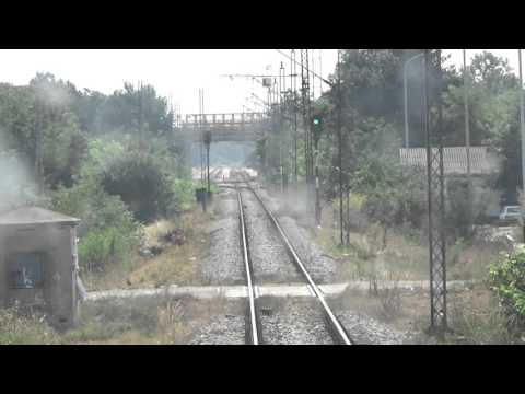 Train Driver's view: railroad in Serbia  from Pancevo Glavna  to Pancevo Varos - SERBIAN RAILWAYS