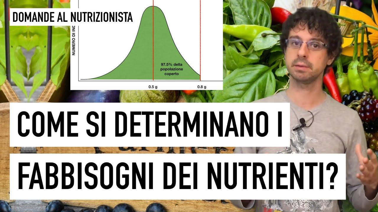 Come si determinano i fabbisogni dei nutrienti?