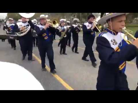 Carencro High School Band marches in Children's Parade