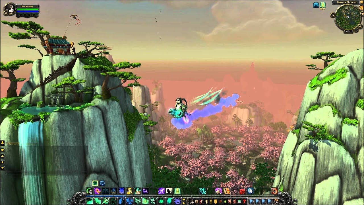 World of Warcraft Mists of Pandaria Monk Glyph Zen Flight - YouTube