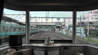 下り寝台特急カシオペア 上野発車から大宮駅到着までの 1号車展望室から...