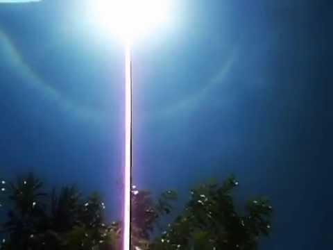 extraño arco iris alrededor del sol. Paraguay
