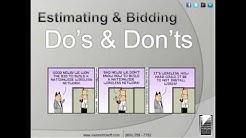 Electrical Estimating and Bidding Do's and Don'ts