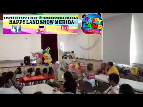 H . L. Show infantil Mérida Yucatán happy land  unicornio princesa