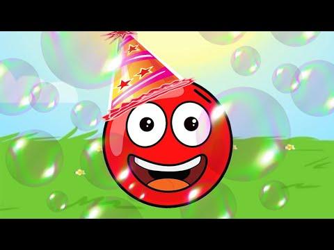 Новый КРАСНЫЙ ШАР, Красныш и мыльные пузыри, красный шарик спасает Соню, мультик игра #111