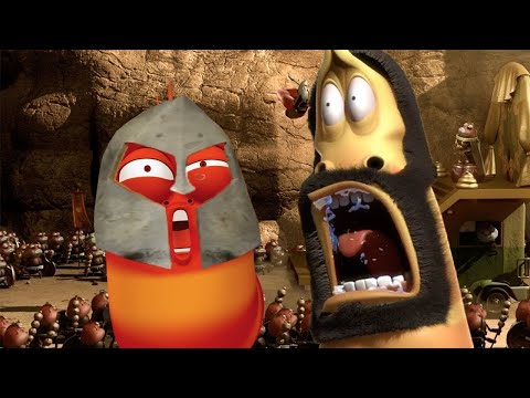 larva---o-conto-do-guerreiro- -fatia-de-limão- -dos-desenhos-animados- -cartoons-para-crianças