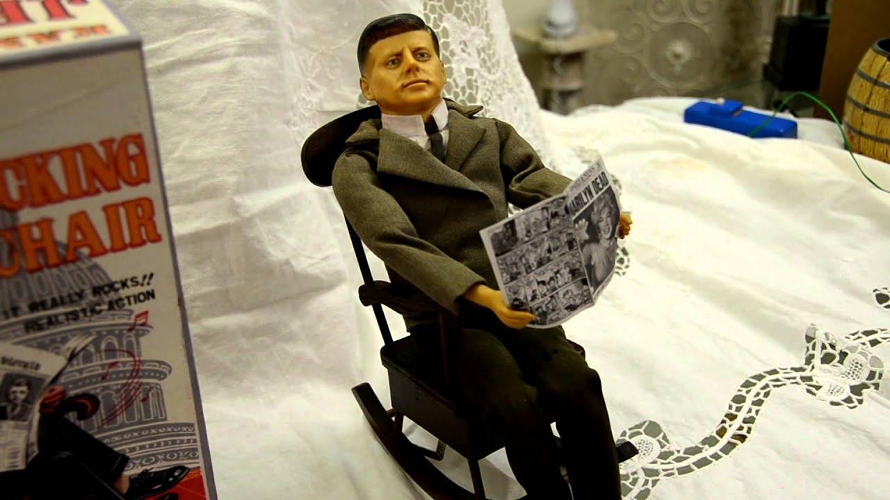 Vintage Toy JFK in Rocking Chair