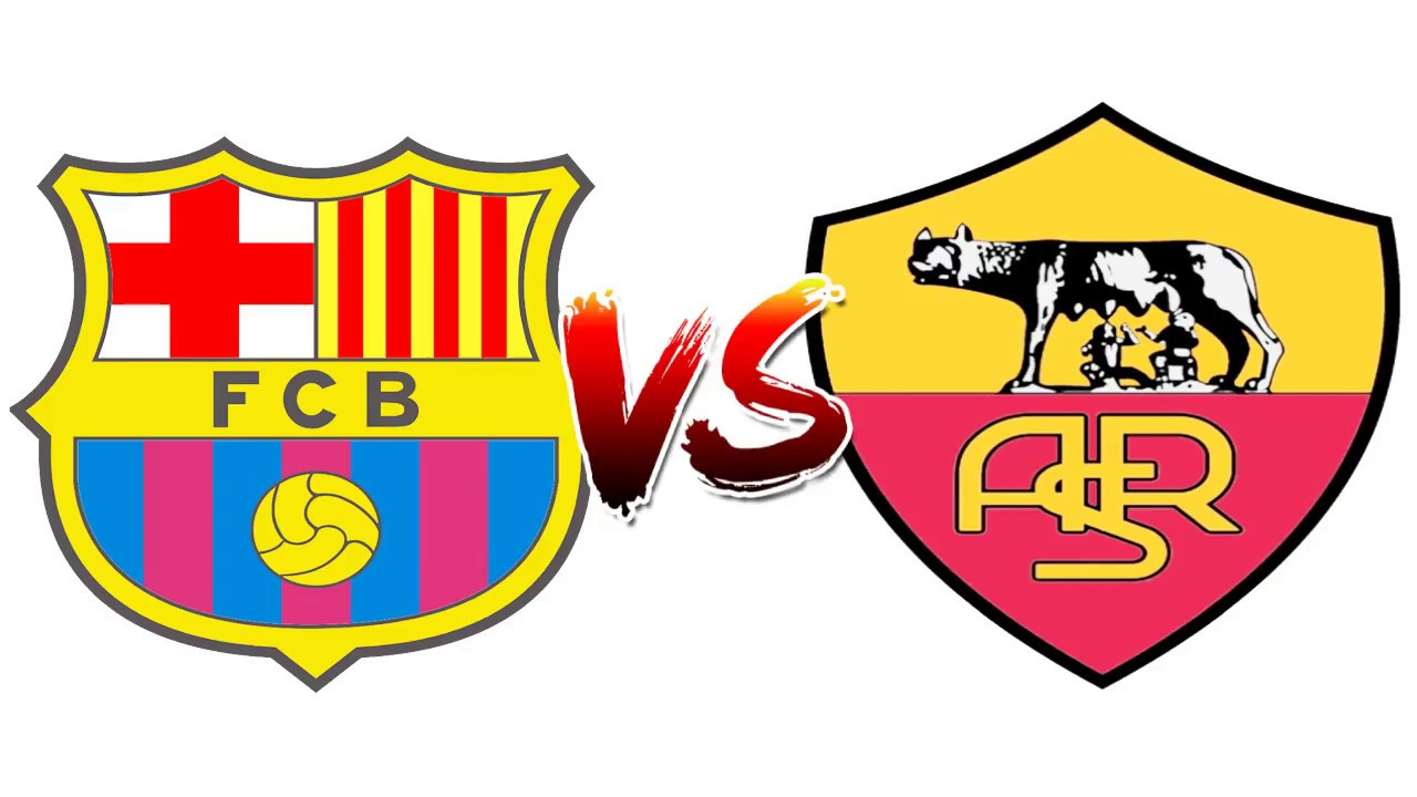 79ba3dc69cc How to Draw and Color - Barcelona Vs Roma Champions League Logos Coloring  Pages