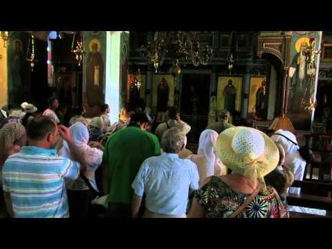 A Russian Orthodox Church prayer in Saint Gerasimos (deir Hajla) Monastery next to Jericho
