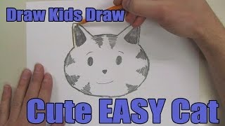 How To Draw: Cute EASY Cat Head.