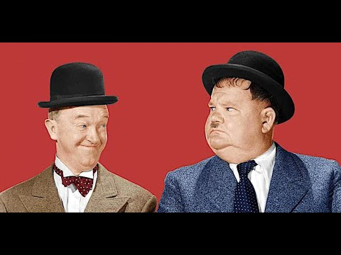 Rare Laurel and Hardy film in color
