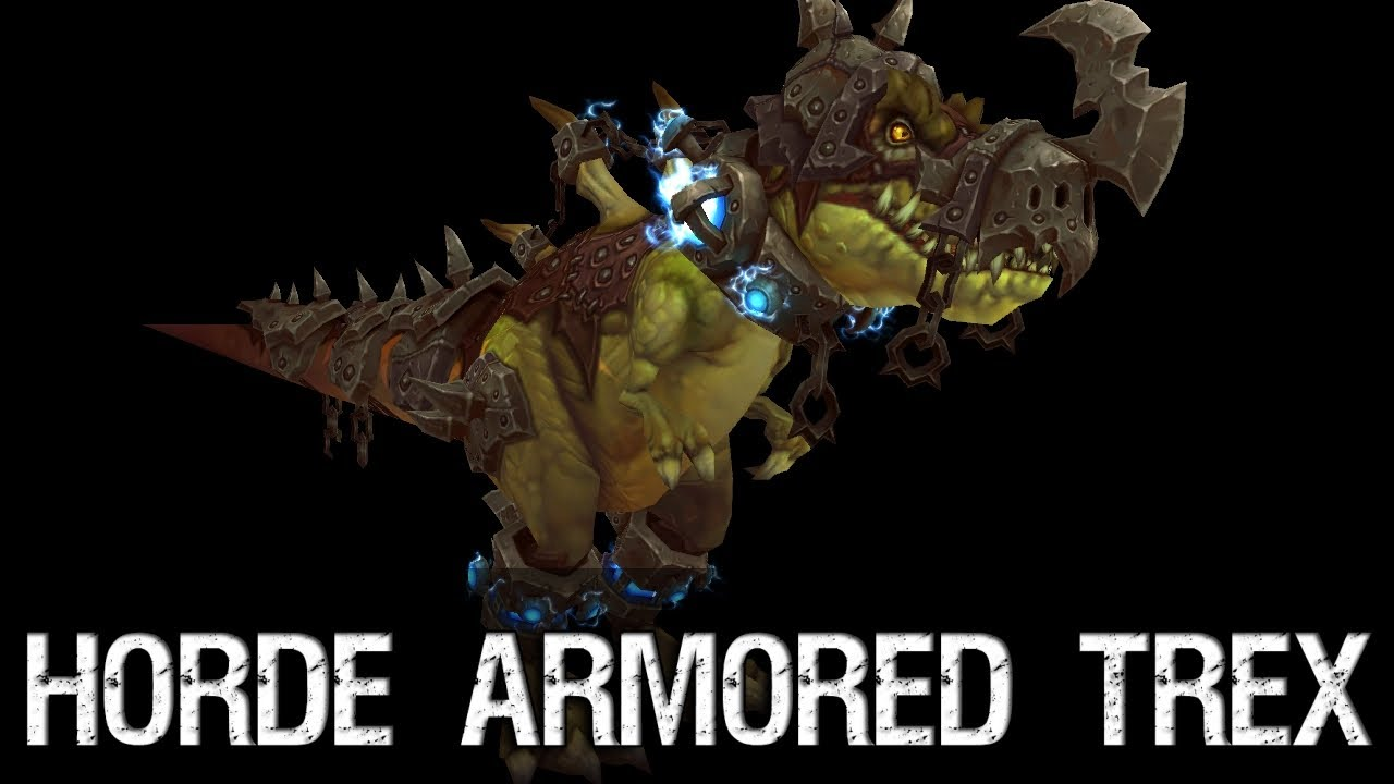 Patch 5 4 Horde Armored Trex Youtube