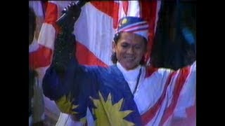 Sudirman & Jubah Bendera Malaysia   15th SEA Games KL 1989   Closing Ceremony