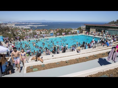 """Port of Los Angeles Supports """"Hey Rookie"""" Swimming Pool Grand Re-Opening"""