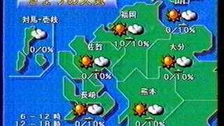 Repeat youtube video 1996.4 TNC天気予報~クロージング