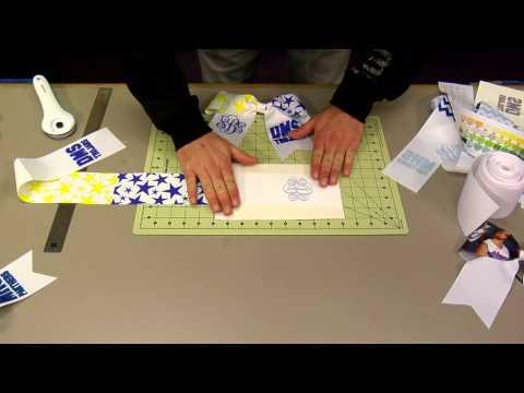 Making Dye Sub Grosgrain Ribbon Cheer Bows -