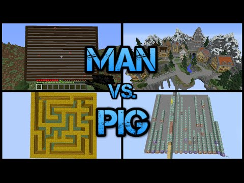Minecraft: Man vs. Pig!