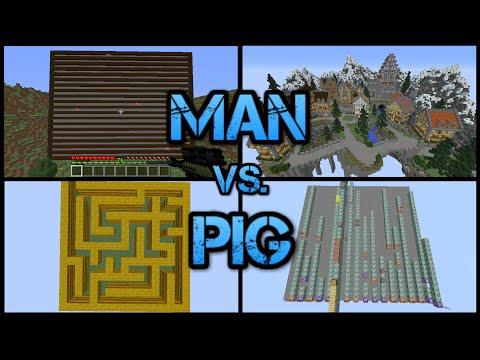 Minecraft: Man vs. Pig!