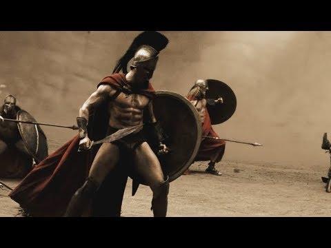 """Первый бой против персов - """"300 спартанцев"""" отрывок из фильма"""