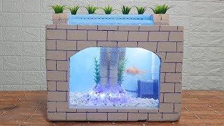 Cách làm bể cá từ thùng xốp cực đẹp