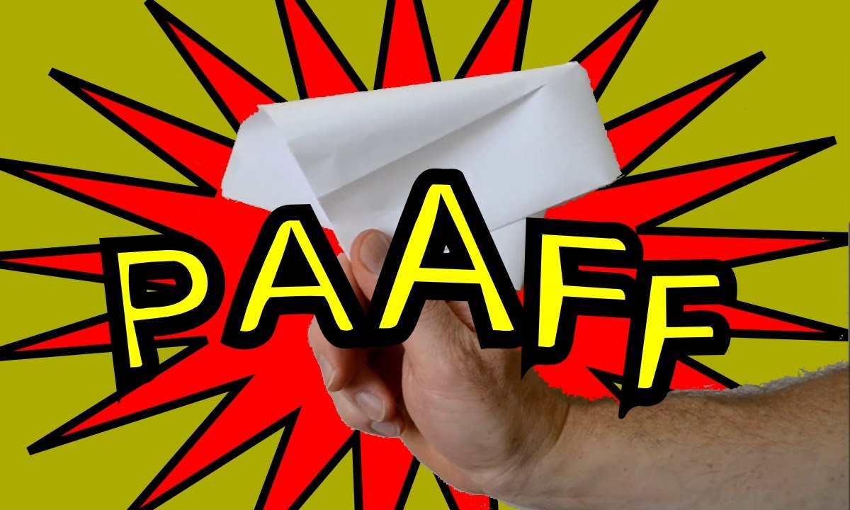 comment faire un petard en papier origami - YouTube