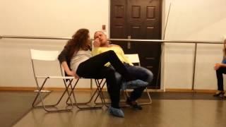 Студия актерского тренинга. Мила и Леша постельная сцена вариант1