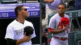 Martinez bests Estevez in anthem standoff