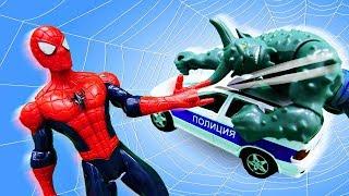 Видео для детей. Человек Паук vs Зеленый герой и Стервятник