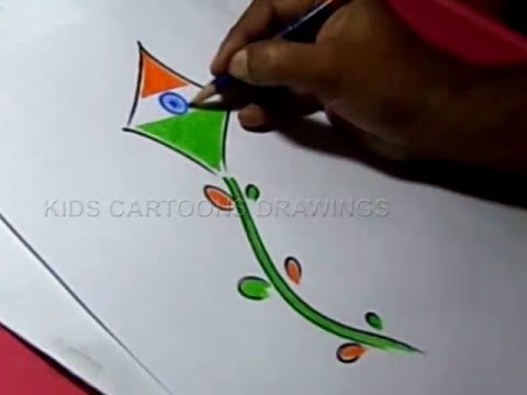 how to draw india flag