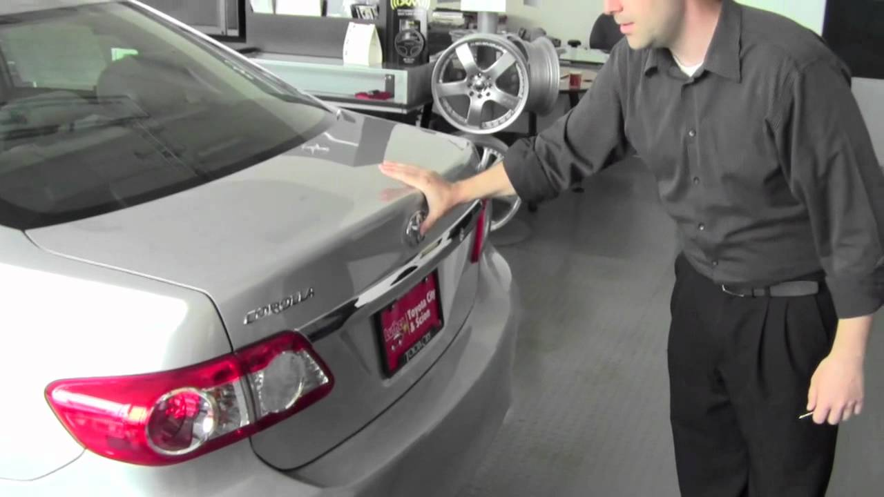 2011 Toyota Corolla Trunk Release How To By Toyota