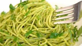 Green Spaghetti Recipe with Style Poblano, Mexico