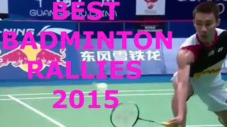 best badminton rallies 2015 in simple dives trick shots impossible shots