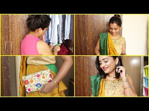 Vlog Indian Mom Doing Experiment with Old Outfits For Brother Marriage- Jewellery, Glittery Eyes