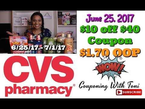 CVS Couponing Haul 6/25/2017   $10 off $40 Coupon (Newbie Friendly Video)