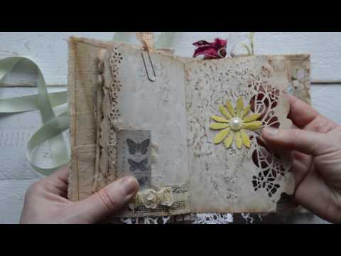 "Junk journal. ""Nature and butterflies """