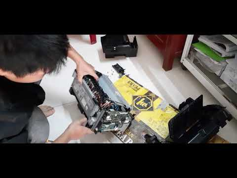 How To Remove And Fix Hp Laser Jet 1212nf Printer Jammed Paper