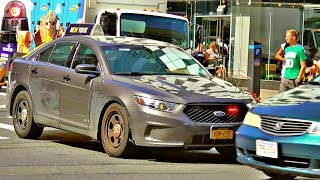 Driver Fails to Yield to NYPD Unmarked Police Car Responding Lights Siren Horn