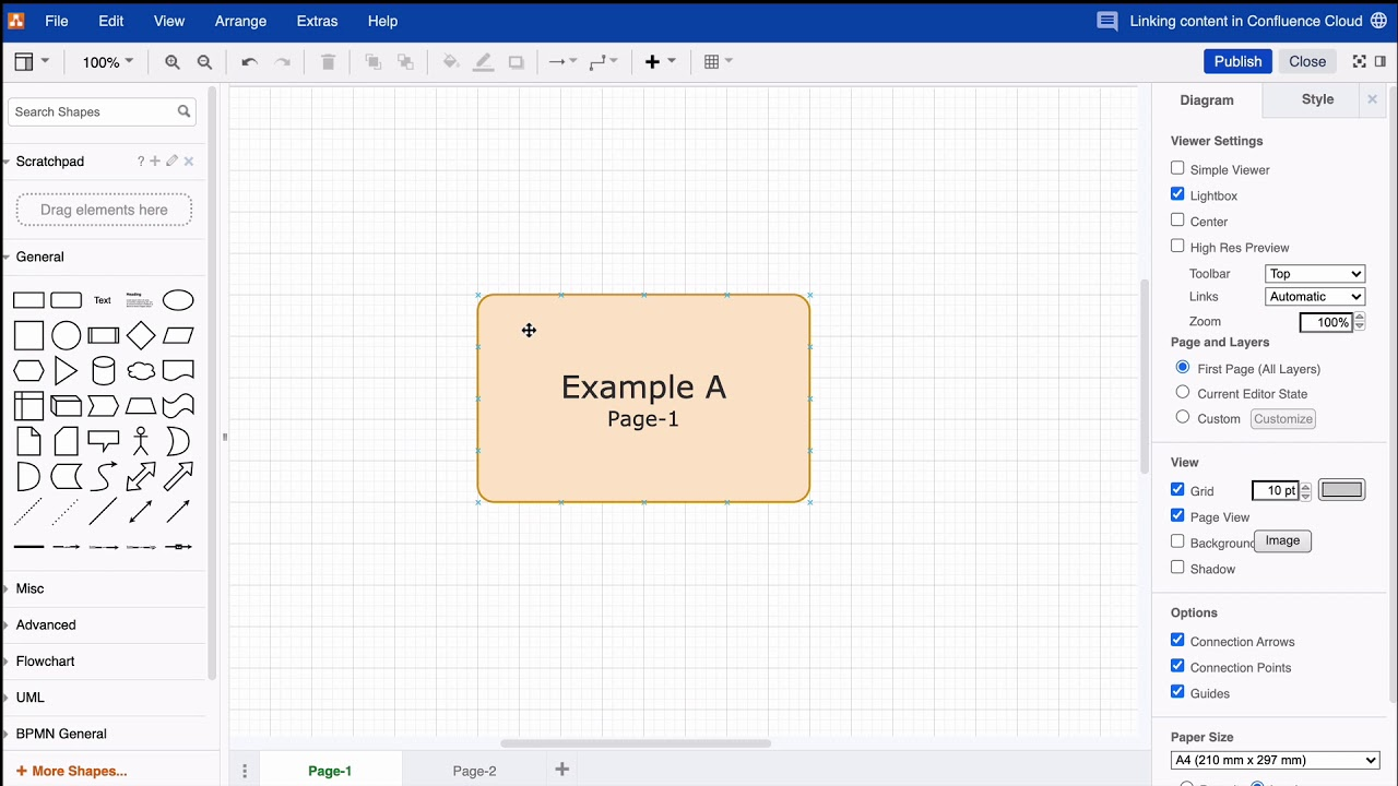 Creating Links To Pages Within Your Draw Io Diagram For Atlassian Confluence Cloud Youtube