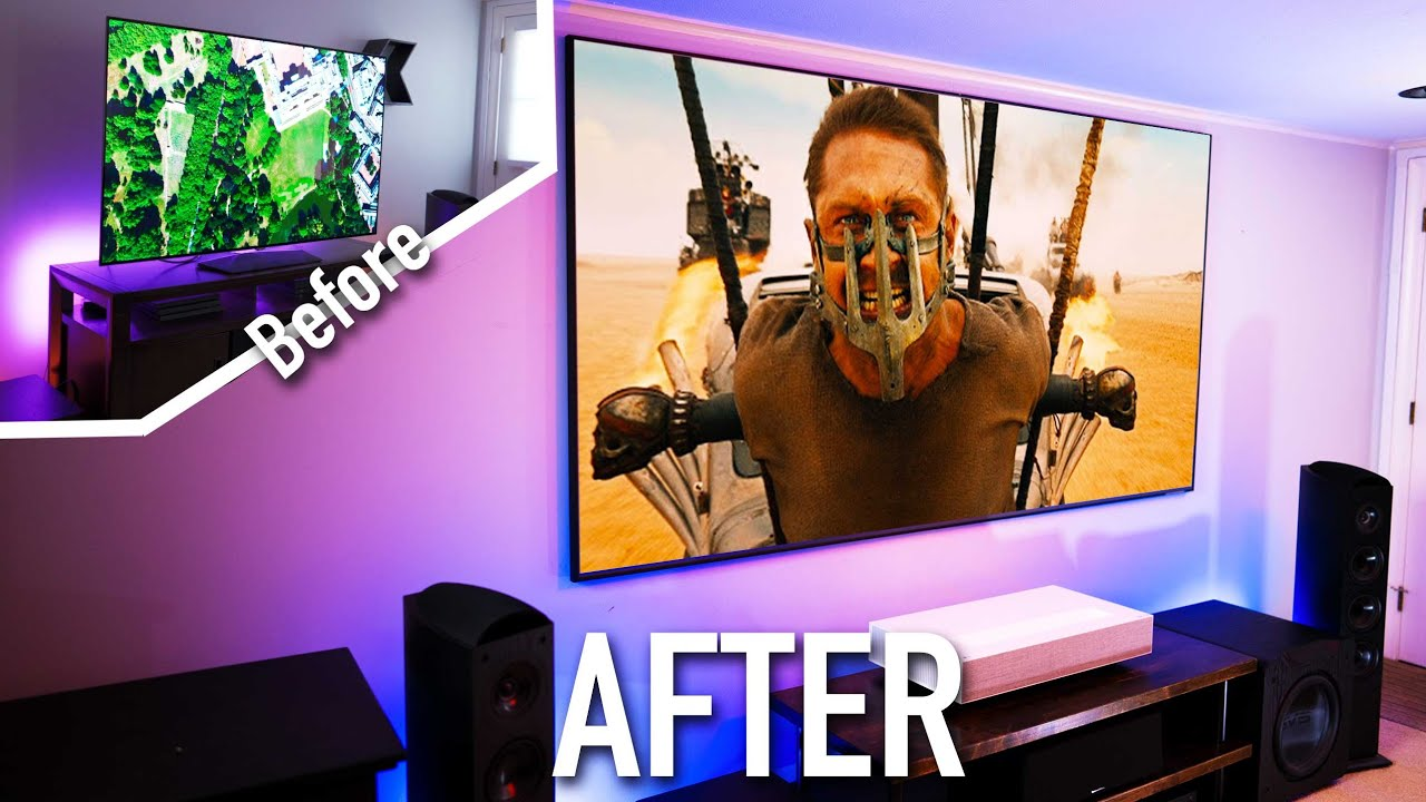 4k Home Theater Upgrade Oled Tv To Laser Projector Is It Worth It 4k Hdr Youtube